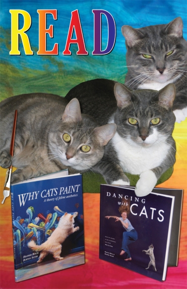 Why Cats Read Poster