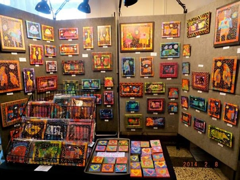 Laura Meddaugh booth at the 2014 Craftacular